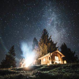 Feuer an der Schutzhütte am Immenstädter Horn